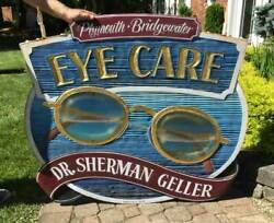 Vintage Eye Doctor Advertising Sign - Large Double Sided