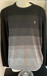 Polo By Sweater Mens Size Medium Black Pullover Crewneck