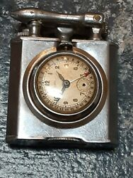 Vintage Chase Lift Arm Lighter Oris Pointer Date Watch1930 For Restoration Rare