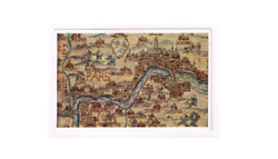 LONDON Map Copy of London from mid 17th century tapestry map