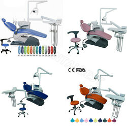Dental Unit Chair Computer Controlled Hard Leather Lab With Doctor Stool Ce Fda