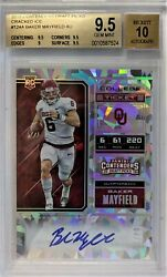 2018 Contenders Cracked Ice /23 Auto Baker Mayfield Bgs 9.5 Cleveland Browns Rc