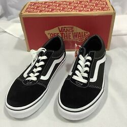 Vans Of The Wall Kids Ward VN0A38J9IJU Suede Black White Sneakers Shoes Size 4
