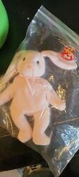 Ty Beanie Hoppity Rabbit - Pink Tag Misprint Rare Collection Edition