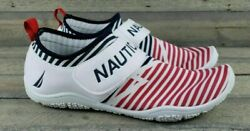 Nwt Nautica Womenand039s Sneakers Water Shoes Red White Blue Boat Beach Jet Ski Slide