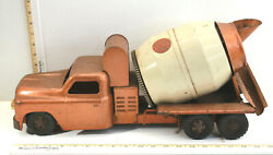 Vintage 1950's Structo Toys Ready-mix Concrete Cement Mixer Truck Pressed Steel