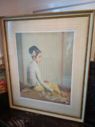 Vintage Gerald Kelly Print Of And039the Yellow Tameinand039 1963 Frost And Reed Hand Signed