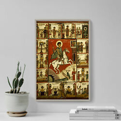 Miracle Of St. George And The Dragon 14th Century Poster Painting Art Print