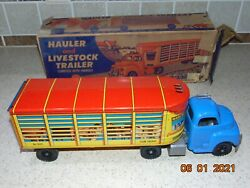 Marcrest Litho Livestock Truck And Trailer Marx With Plastic Removable Cab Rare