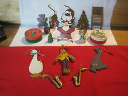Lot Of Vintage Rustic Country Craft Christmas Decorations
