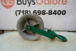 Greenlee 12 Inch 8000 Lbs Sheave For Cable Wire Tugger Puller Great Shape
