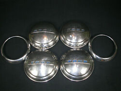 Vintage 1940s 1950s Ford Hubcaps Set Of 4 And 2 Headlight Rings Dog Dish Truck Car