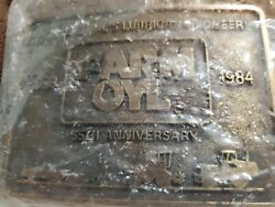 Farm Oyland039s First Edition Belt Buckle Commemorative Collectorand039s Buckle Sealed