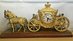 United Clock Horse Drawn Carriage Stagecoach