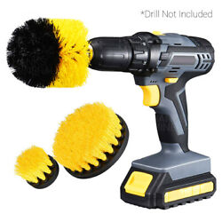 Drill Brush Set Attachment 3pcs Power Scrubber Cleaning Car Tile Grout Shower