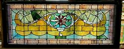 Huge Antique Stained Beveled Combination Window 30 X 75