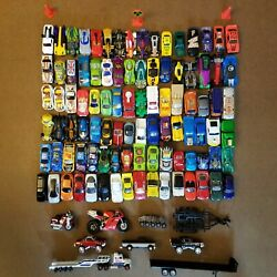 Huge Lot Of 100 Hot Wheels Matchbox Maisto And More Toy Cars Trucks Nascar Loose