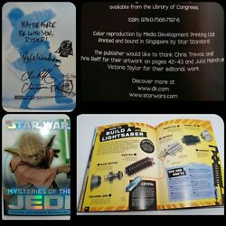 Star Wars Mysteries Of The Jedi Book Signed By Chris Trevas And Chris Reiff 2011