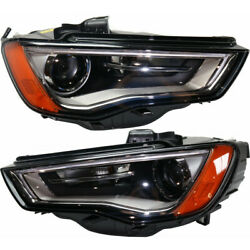 For Audi A3/s3 Headlight 2015 2016 Lh And Rh Pair/set Hid Au2502191   8v0941043b