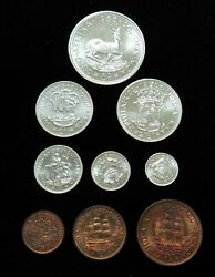 1953 Silver South Africa 9 Coin Choice Proof Set Km Ps 27