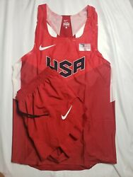 Nike Pro Elite Usa Singlet And Shorts Size Xl Track And Field New Kit Rare
