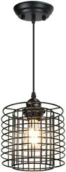 Farmhouse Light Fixtures Ceiling Industrial Black Hanging Kitchen Metal Cage New