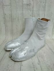 Maison Margiela Auth S57wu0134 Womens Painted Tabi Boots Silver Eu 42 From Japan