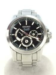 Seiko Box Used Ananta Black Automatic Mens Watch Authentic Working