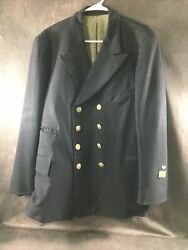 Rare Vintage Canadian National Railways Double Breasted Railroad Conductor Coat