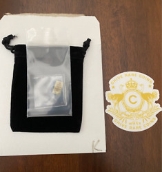 Chive Rare Letter K Keep Calm Chive On 1/100th Oz Gold Bar. - Park Place