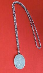 Vintage Pewter Necklace, Pennsylvania Mountain Laurel, 24 Inch, Hand Engraved