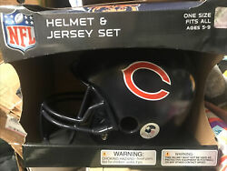 New Chicago Bears Franklin Sports Youth Nfl Helmet And Jersey Set