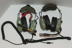 2 David Clark Headset For Helicopter Pilots Untested