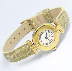 Discontinued Used Must Colisee Vermeil Quartz Womens Watch Auth Works