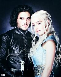 Kit Harington Signed Autographed And039game Of Thronesand039 Jon Snow With Daenerys 16x20