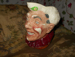 Royal Doulton The Clown Character Toby Jug D6322 With White Hairharry Fenton