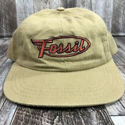 Vintage Fossil Snapback Hat Cap Mens One Size Guys 90s Watches Usa Made Osfm Vtg