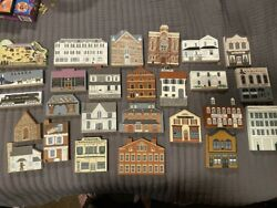 The Catand039s Meow Wood Village Houses Buildings Lot Of 26 Pieces Wooden