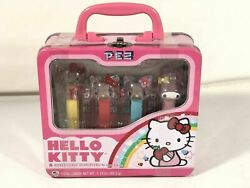 Hello Kitty Pez Gift Set Retired Collectible Dispensers W Display Case