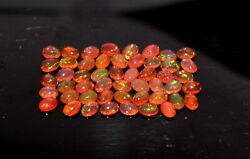 50pcs 4x6mm Natural Ethiopian Red Opal Wello Fire Opal Loose Gemstone S-0276