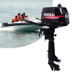 Hangkai 6 Hp 2 Stroke Outboard Motor Boat Marine Engine Water Cooling Cdi System