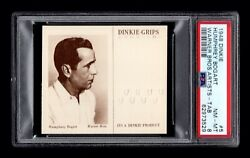 Psa 8 Humphrey Bogart 1948 Dinkie Grips Card 5 Complete With Tab