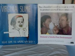 2vintage 🚬 Cigarette Posters 1986and1993 Artist Brahna Yassky And B.hair 22hx21l