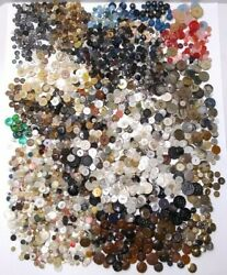 Vintage Bundle Lot Sewing Buttons Almost 5 Lbs Metal Wood Nautical Variety Craft