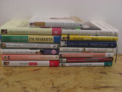 Joyce Meyer Lot Of 14 Hard Cover Battlefield Of The Mind, Confident Woman,...