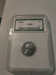 1943 D Ani High Grade - Wow - Lincoln Wheat Steel Cent