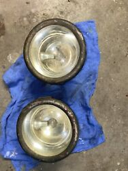 1912 Or 1913 Vintage Cadillac Brass Cowl Head/side Lights Made By Gray And Davis