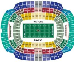 2 Baltimore Ravens Psl Club Level Section 216 Row 9