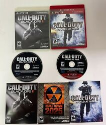 Call Of Duty World At War And Black Ops 2 Bundle - Ps3 Playstation 3 Video Game