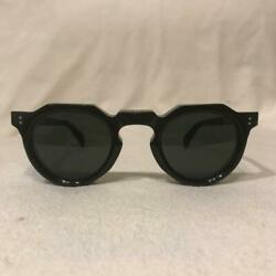 Lesca French Sunglass Frame Lens Black 1950s Antique Men's Accessory Used